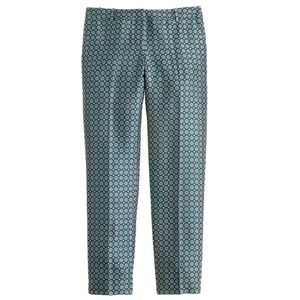 J. Crew Collection Silk Tie Print Cafe Pant